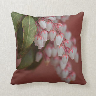 Japanese andromeda throw pillow
