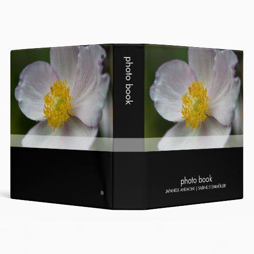 Japanese Anemone · Photo Book 3 Ring Binder