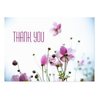 Japanese Anemone • Thank You Profilecard Large Business Card