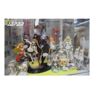 Japanese Anime Figures Poster
