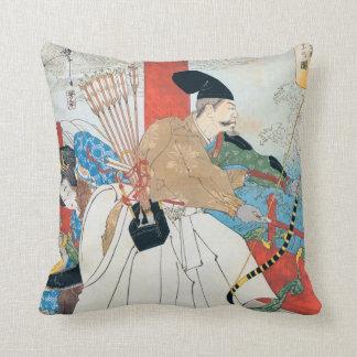 Japanese Archer Ancient Art Throw Pillows