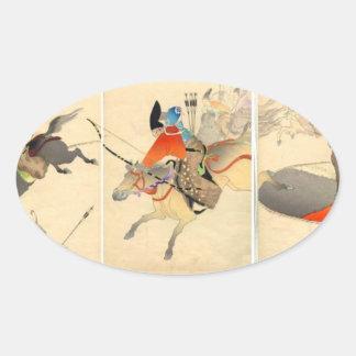 JAPANESE ARCHER ON HORSE STICKER