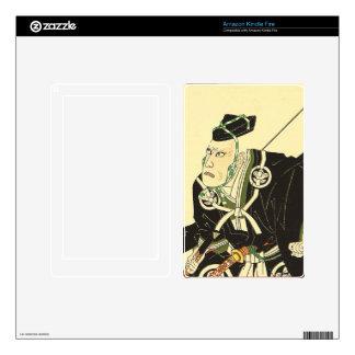 Japanese Art - A Samurai Carrying A Longbow Kindle Fire Decal