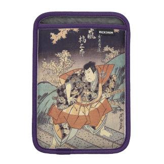 Japanese Art - A Samurai In Combat Stance iPad Mini Sleeve
