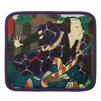 Japanese Art - A Samurai Wearing Patterned Kimono Sleeves For iPads