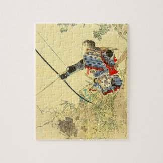 Japanese Art - A Samurai With A Longbow And Arrows Jigsaw Puzzle