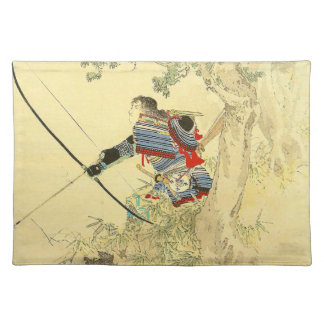 Japanese Art - A Samurai With A Longbow And Arrows Placemat