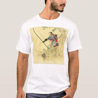 Japanese Art - A Samurai With A Longbow And Arrows T-Shirt