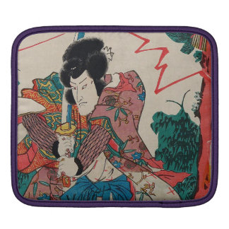 Japanese Art - A Samurai With Swor In Kabuki Show iPad Sleeves