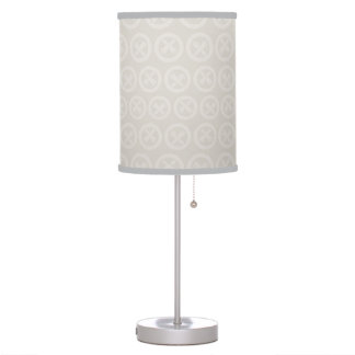 Japanese Art Blockprint Design Table Lamp