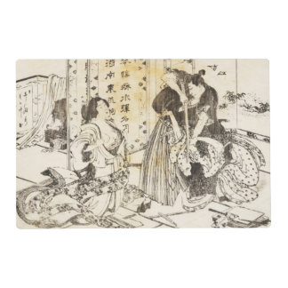 Japanese Art by Hokusai 3 Double Sided Placemat
