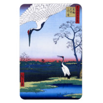 Japanese Art Crane Birds Magnet