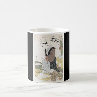 Japanese Art cup Painting (Date Unknown) Classic White Coffee Mug