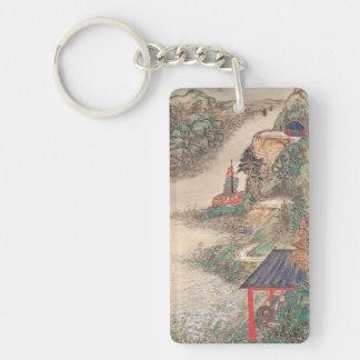 Japanese Art custom key chain