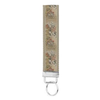 Japanese Art custom monogram wrist key chain