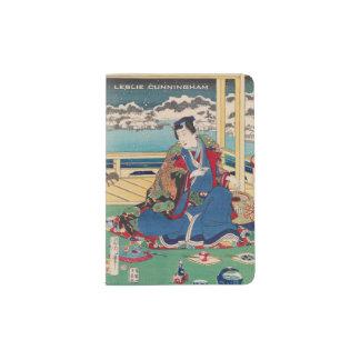 Japanese Art custom name passport cover Passport Holder