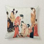 Japanese Art Design Throw Pillows