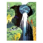 Japanese Art Hokusai Amida Waterfall Fine Art Post Card