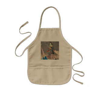 Japanese Art  - Painting Of A Japanese Spider Lady Kids' Apron
