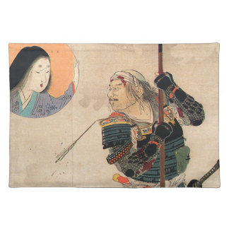 Japanese Art - Painting Of A Samurai And His Lover Cloth Placemat