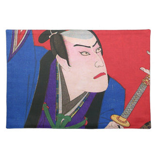 Japanese Art - Painting Of An Angry Samurai Placemat