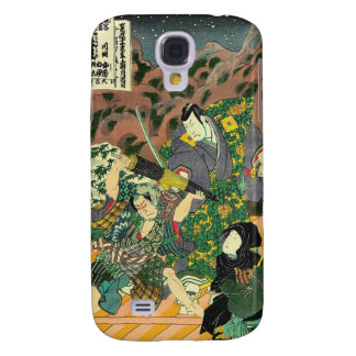 Japanese Art - Painting Of Two Samurais Fighting Samsung Galaxy S4 Covers