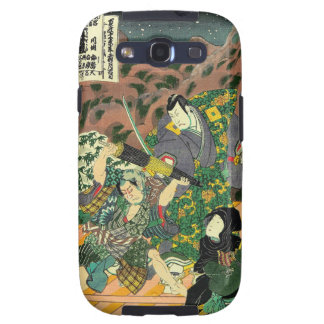 Japanese Art - Painting Of Two Samurais Fighting Galaxy SIII Case