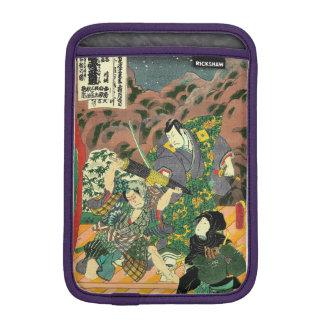 Japanese Art - Painting Of Two Samurais Fighting Sleeve For iPad Mini