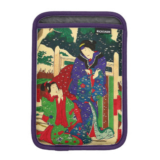 Japanese Art - Painting Of Two Women In The Snow iPad Mini Sleeve