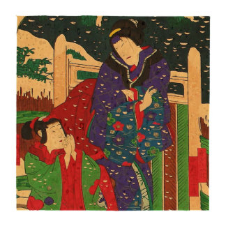 Japanese Art - Painting Of Two Women In The Snow Coasters