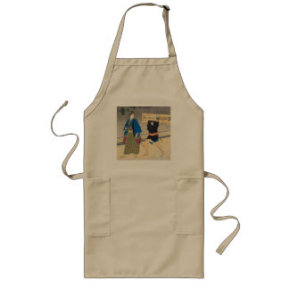 Japanese Art - Samurai And His Servant Long Apron