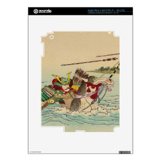 Japanese Art - Samurai Attacking From A River iPad 3 Decal