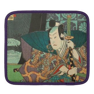 Japanese Art - Samurai In Beautiful Kimono iPad Sleeves