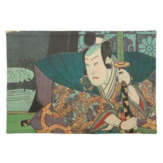 Japanese Art - Samurai In Beautiful Kimono Placemat