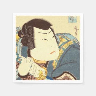 Japanese Art - Samurai In Full Combat Gear Paper Napkin
