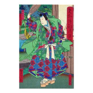 Japanese Art - Samurai In Kabuki Show Stationery