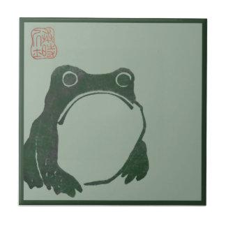 Japanese art ukiyo frog ceramic tile