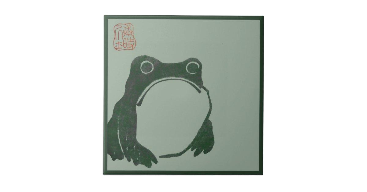 Japanese art ukiyo frog ceramic tile   Zazzle.com