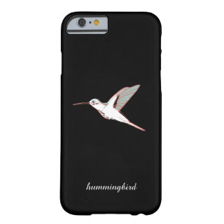 Japanese artistic hummingbird elegant black marrie barely there iPhone 6 case