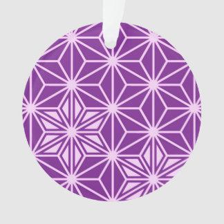 Japanese Asanoha pattern - amethyst purple
