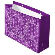 Japanese Asanoha pattern - amethyst purple Large Gift Bag