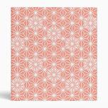 Japanese Asanoha pattern - coral pink Vinyl Binders