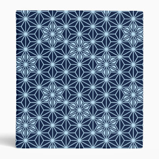 Japanese Asanoha pattern - indigo blue Binder