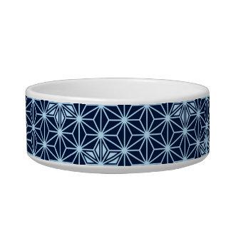 Japanese Asanoha pattern - indigo blue Bowl