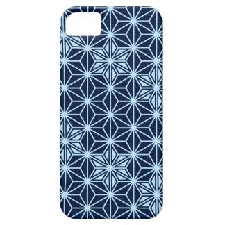 Japanese Asanoha pattern - indigo blue iPhone SE/5/5s Case