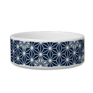Japanese Asanoha pattern - indigo blue & white Bowl
