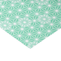 Japanese Asanoha pattern - light aqua Tissue Paper