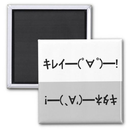Japanese ASCII Art「キレイー!」&「キタネー!」dishwasher magnet 磁石