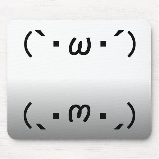 Japanese ASCII Art「シャキーン」&「ショボーン」 マウスパッド