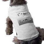 Japanese ASCII Art「シャキーン」&「ショボーン」 ワンちゃんTシャツ
